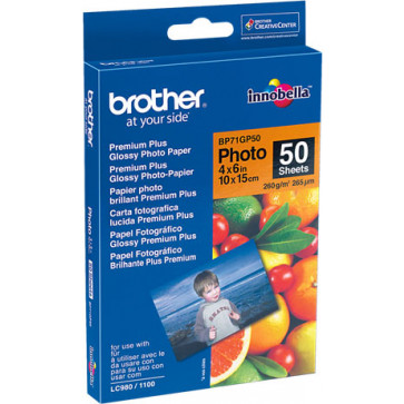 Brother BP71GP50 Glossy Fotopapier 10x15 cm, 50 Blatt