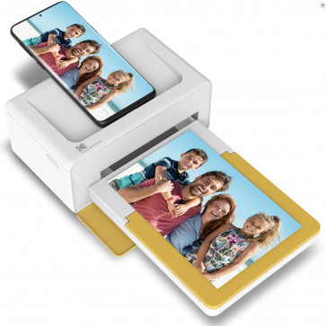 Kodak Dock Plus, tragbarer Bluetooth Photoprinter, weiss/gelb