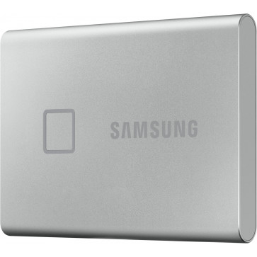 Samsung 1TB T7 Touch Portable SSD, silber