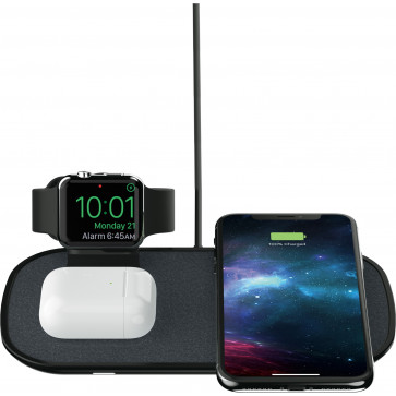 Mophie 3-in-1 QI Wireless Charging Pad für iPhone, Apple Watch und Airpods, schwarz