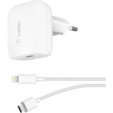 Belkin 20W USB-C Power Adapter, Boost Charge, inkl. Kabel, weiss