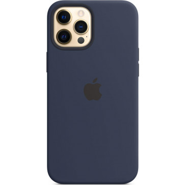 "Apple Silikon Case mit MagSafe, iPhone 12 Pro Max (6.7""), Dunkelmarine"