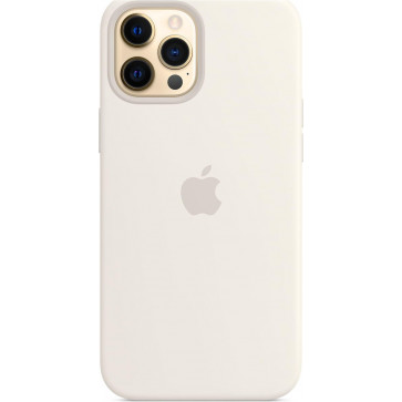 """Apple Silikon Case mit MagSafe, iPhone 12 Pro Max (6.7""""), Weiss"""