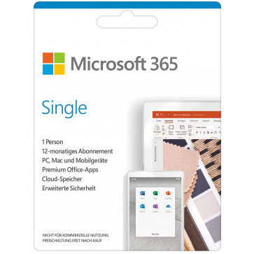 Microsoft 365 Single Abo Mac + Win, Downloadversion