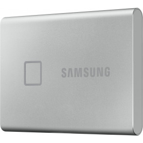 Samsung 2TB T7 Touch Portable SSD, silber