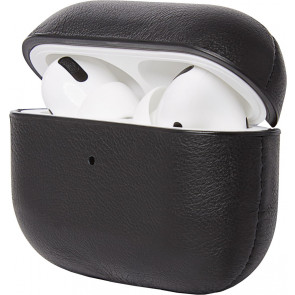 Decoded Leder Case für Apple AirPods Pro, schwarz