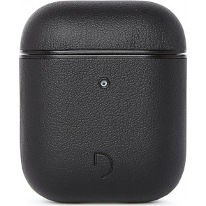 Decoded Leder Case für Apple AirPods, schwarz