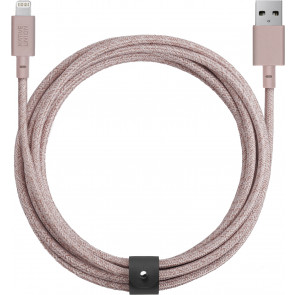 Native Union Belt Lightning auf USB-Kabel 3m, rose