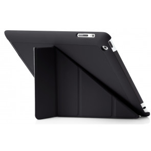 Origami Case, iPad 4,3,2, schwarz, Pipetto