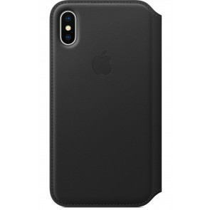 "Leder Folio, iPhone X (5.8""), schwarz, Apple"