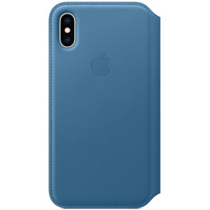 "Leder Folio, iPhone XS Max (6.5""), cape cod blau, Apple"