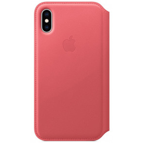 "Leder Folio, iPhone XS Max (6.5""), pfingstrosenpink, Apple"