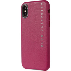 Decoded Leder Back Cover, Pop Color, iPhone XR, fuchsia