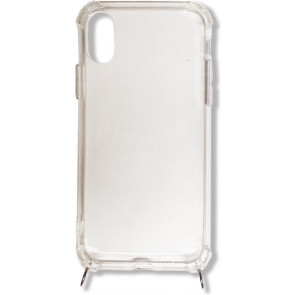 Jalouza Necklace-Cover ohne Band für iPhone XR, transparent