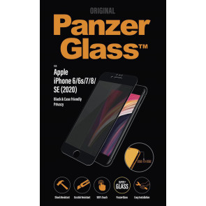 "Panzerglass Displayschutz, Privacy, iPhone SE/8/7/6s/6 (4.7""), schwarz"