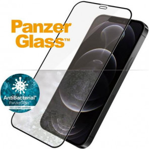 "Screen Protector Case Friendly, iPhone 12 /12 Pro, (6.1""), clear, schwarz Panzerglass"