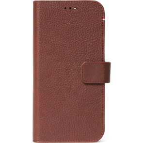 Decoded Leder Wallet 2-in-1 mit MagSafe, iPhone 12 Pro Max, Braun
