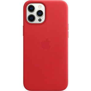 """Apple Leder Case mit MagSafe, iPhone 12 Pro Max (6.7""""), Rot (PRODUCT)"""