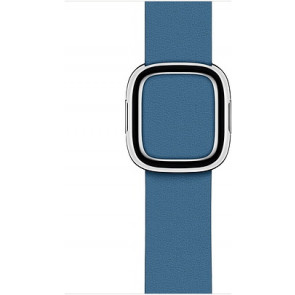 Modernes Lederarmband L für Apple Watch 38/40 mm, cape cod blau