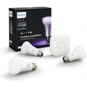 Philips Hue White & Color Starterset: 3x E27 Lampen; Bridge v3