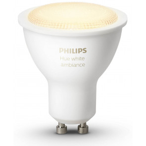 Philips Hue White Ambiance GU10 LED-Lampe, 250 Lumen