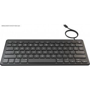 Zagg Universal Wired Lightning Keyboard, CH Layout, schwarz