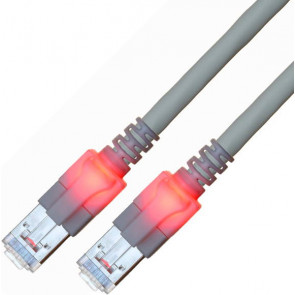 Ethernet Kabel 3 m, Kat.6, grau, saCon, mit Lichtidentifikation