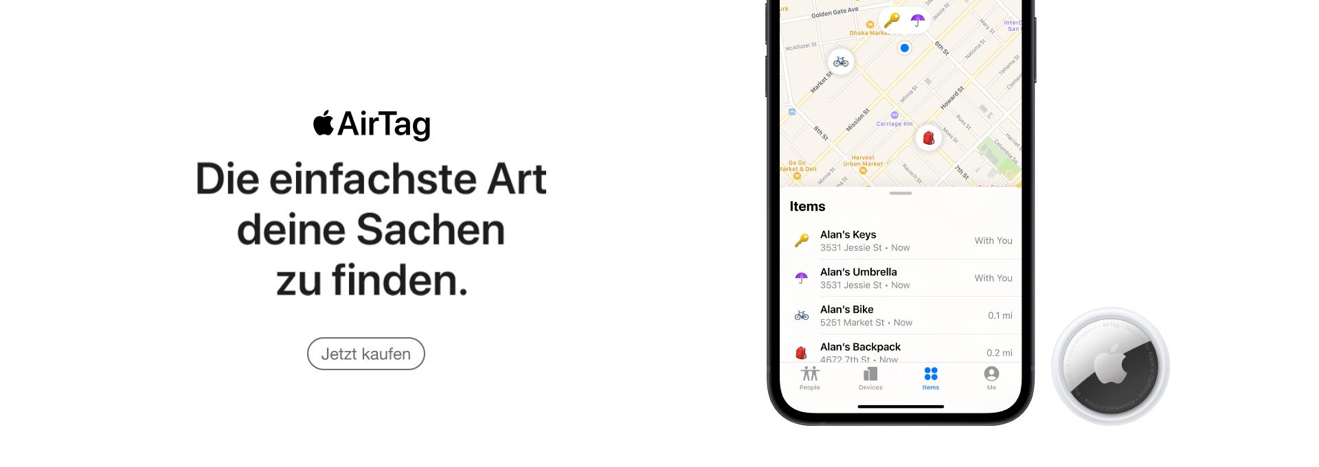 Slider Apple AirTag