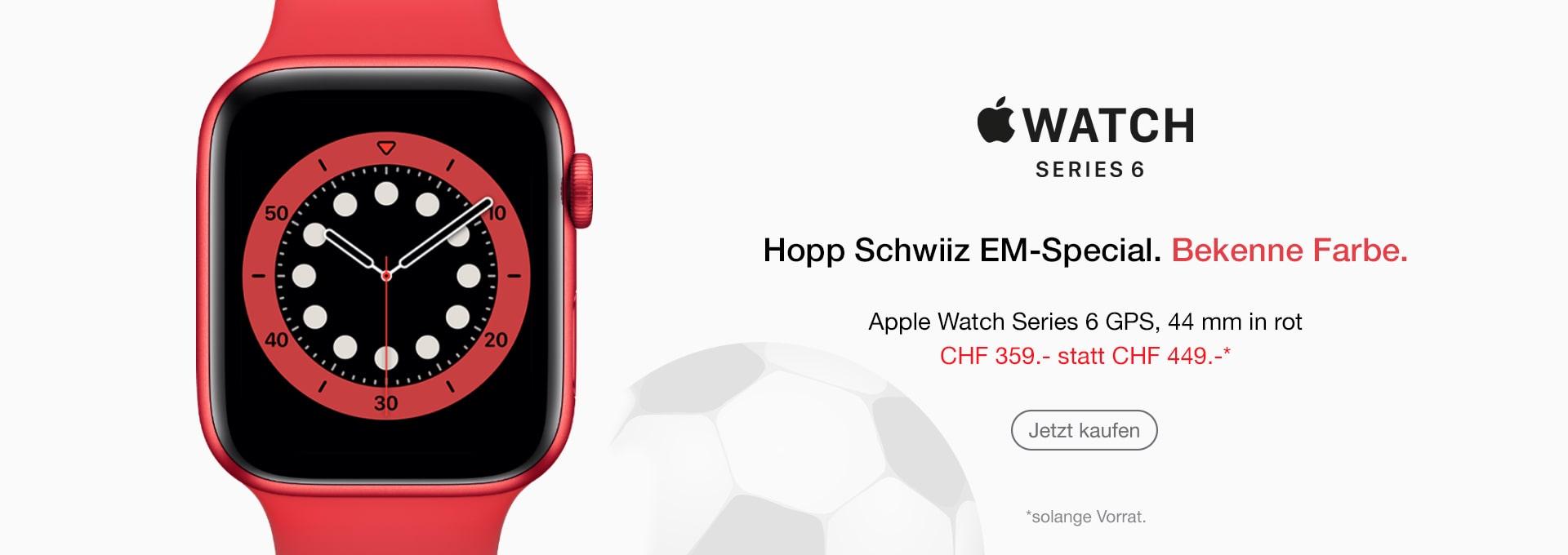 Apple Watch Schweizer Farbe